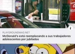 Enlace a McDonalds y sus nuevos trabajadores