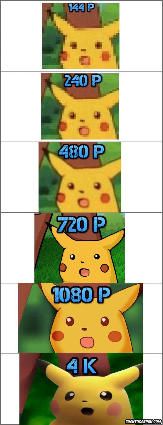 Otros - La evolución de Pikachu asustado