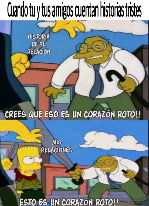 Bart,Corazon,Corazon roto,Historia,Los Simpso