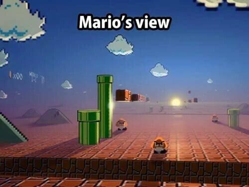 Meme_otros - Que bonito lo ve todo Mario