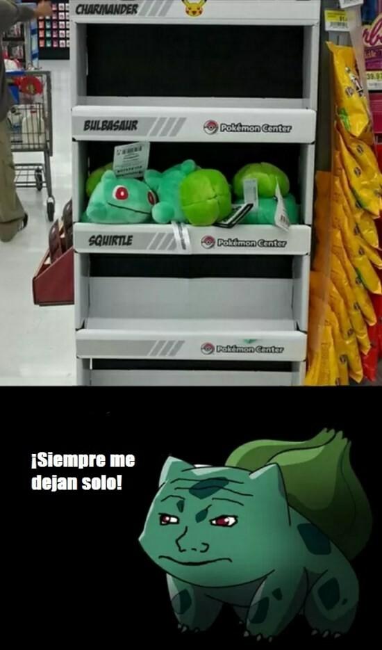 Meme_otros - Pobre Bulbasaur...