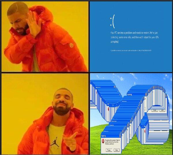 Meme_otros - Prefiero los errores de Windows XP