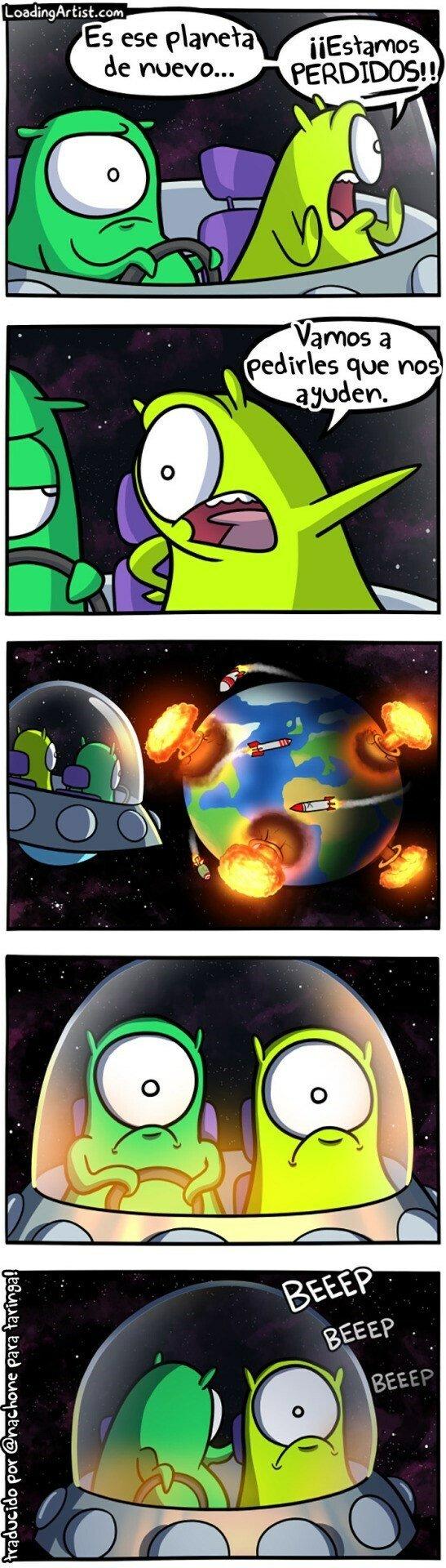 Otros - En la Tierra no estamos para ayudar a nadie