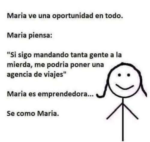 Meme_otros - Maria sabe bien como funciona la vida