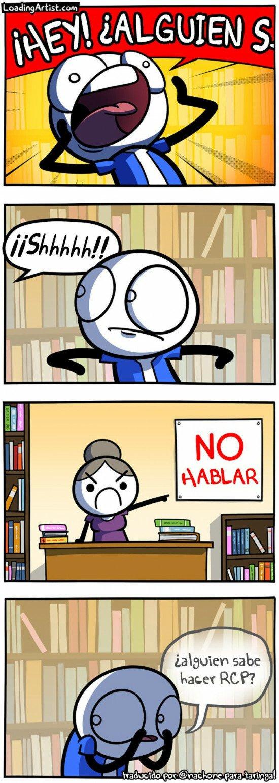 Otros - Mensaje de emergencia en la biblioteca