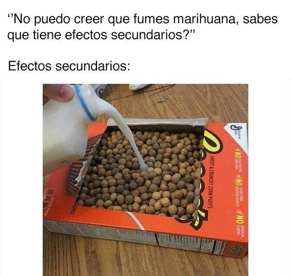 Meme_otros - La marihuana y sus efectos secundarios