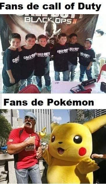 Meme_otros - Fans COD vs Pokemon