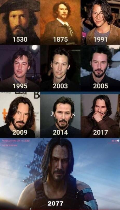 Meme_otros - Keanu Reeves a través de los años