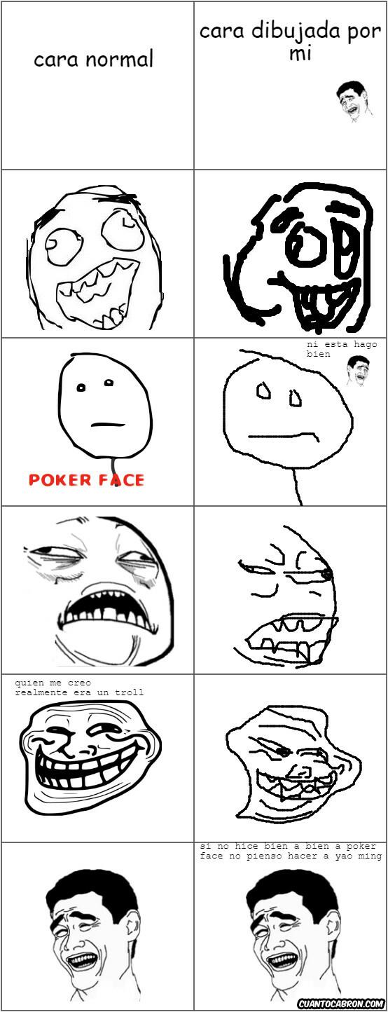 Trollface - caras mal dibujadas