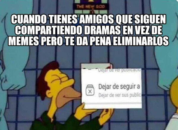 Meme_otros - No more drama en mi muro