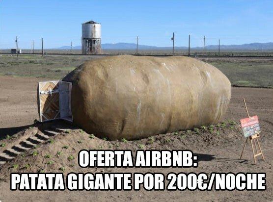 Meme_otros - Una patata gigante se convierte en una habitación airbnb