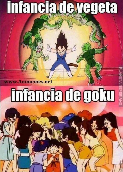 Son_goku - infancia de vegeta vs infancia de goku
