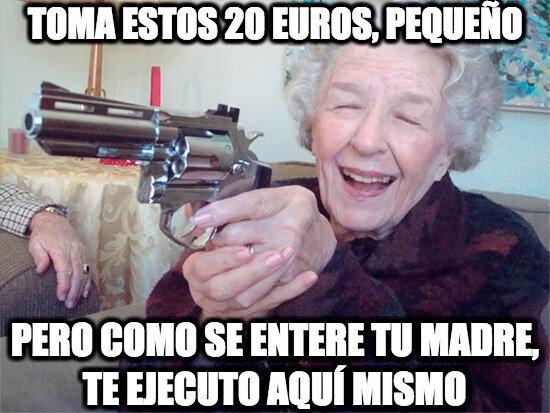 Abuela_amenazas - Ese secretismo con el que tu abuela te da dinero