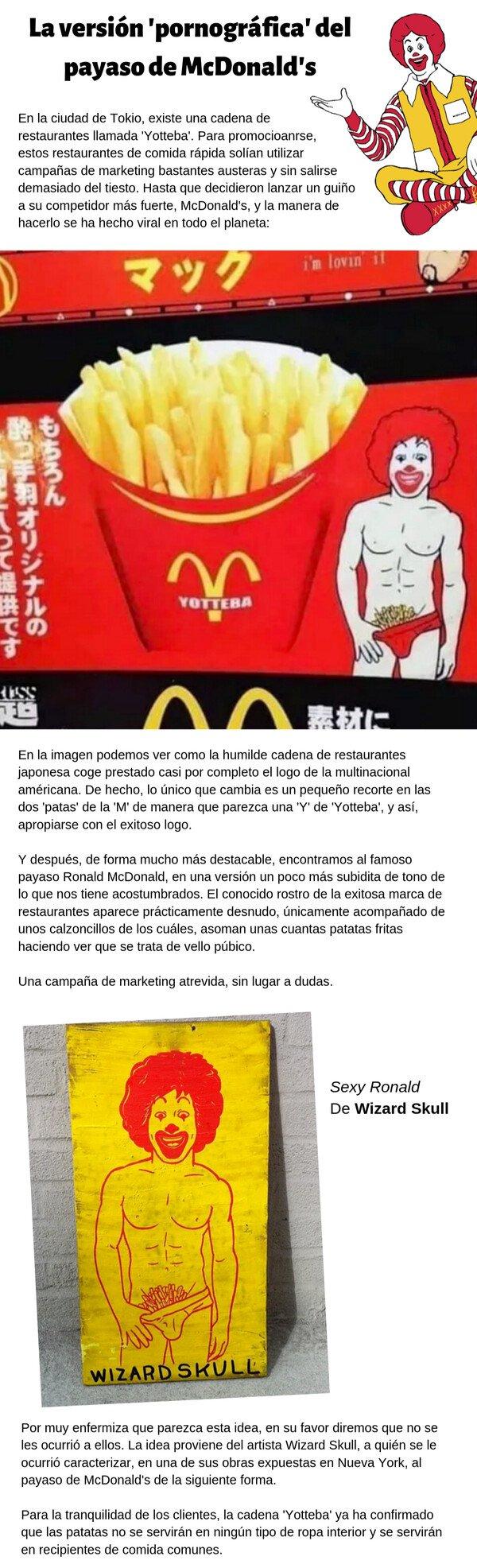 Otros - Un McDonald's de Japón utiliza una versión +18 del payaso en sus anuncios, y el mundo se vuelve loco