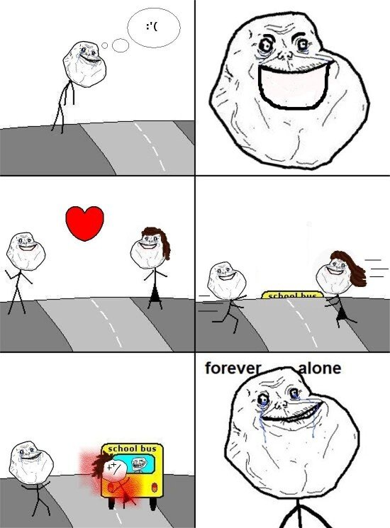 Meme_forever_alone - La suerte de algunos