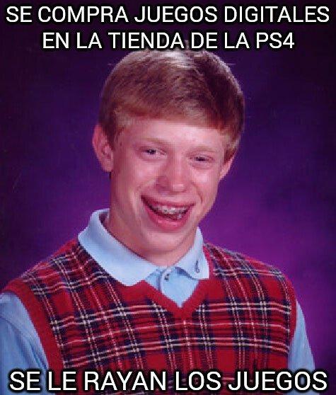 Bad_luck_brian - Se compra juegos digitales en la tienda de la PS4