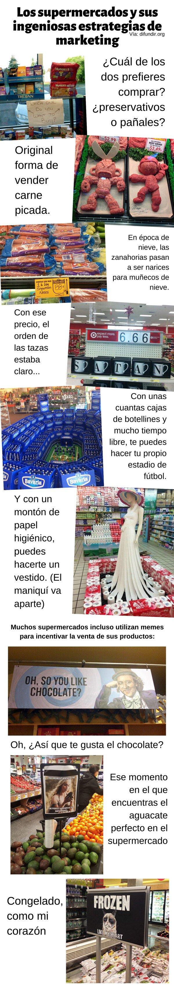 Otros - Supermercados y sus ingeniosas estrategias de marketing