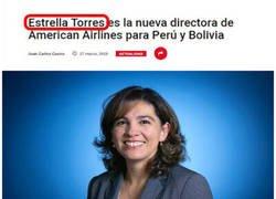 Enlace a Estrella Torres, un nombre poco esperanzador para una directora de compañía aérea