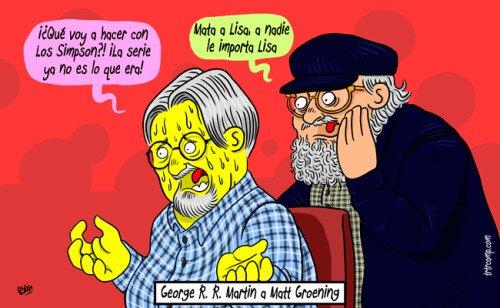 Meme_otros - Si George R. R. Martin aconsejara a Matt Groening