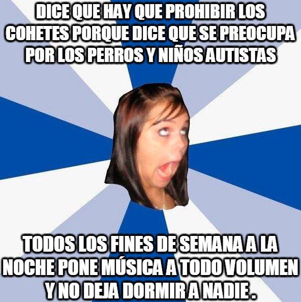 Amiga_facebook_molesta - La hipocresía de los anti pirotecnia