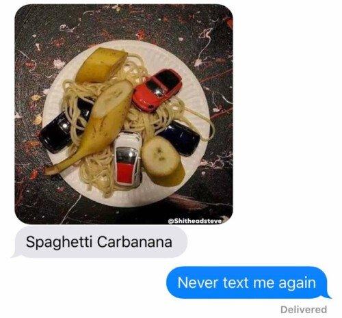 banana,car,carbonara,coche,espaguetti