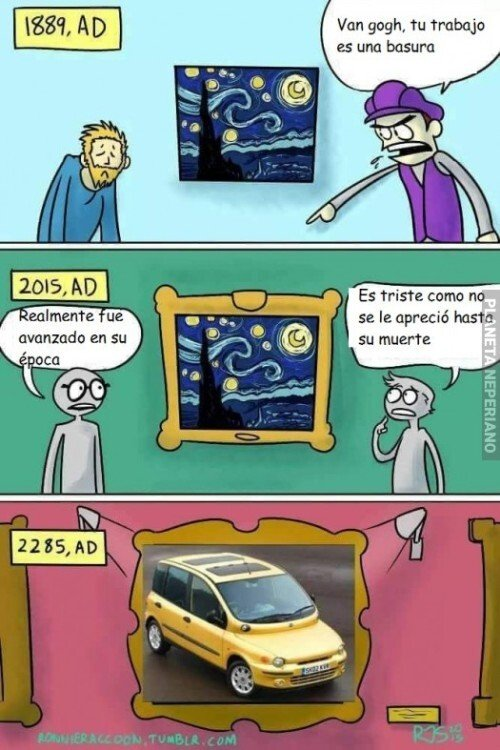 arte,Fiat Multipla,futuro,valorar,Van Gogh