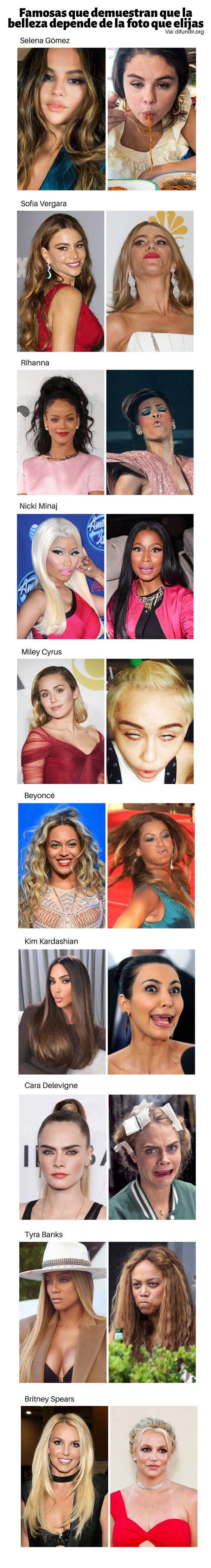 Meme_otros - Famosas que demuestran que la belleza depende de la foto que elijas