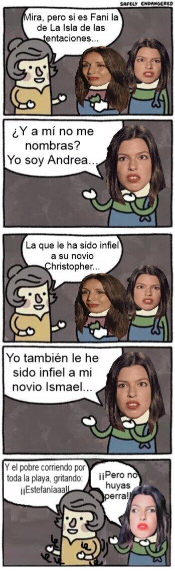 Meme_otros - Que sí Andrea pero la gente sólo se acuerda de los cuernos de Fani a Christopher y su Estefaníaaa