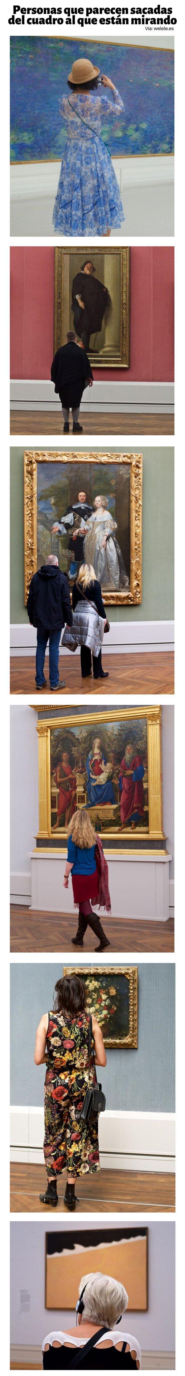 Meme_otros - Personas que parecen sacadas del cuadro al que están mirando