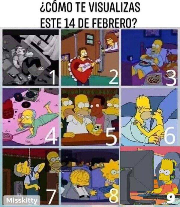Meme_otros - ¿Qué escena de Los Simpson eres este San Valentín?