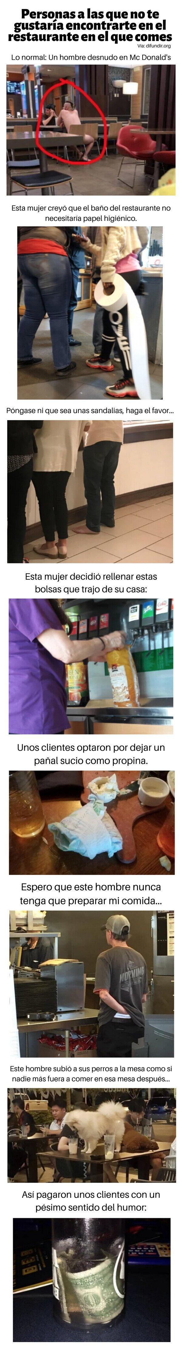 Meme_otros - Personas a las que no te gustaría encontrarte en el restaurante en el que comes