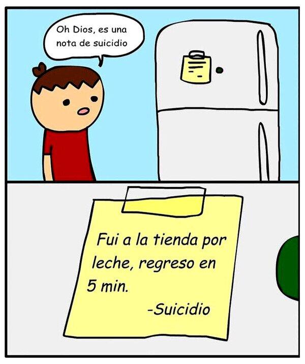 Otros - Suicidio fue a comprar