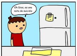 Enlace a Suicidio fue a comprar