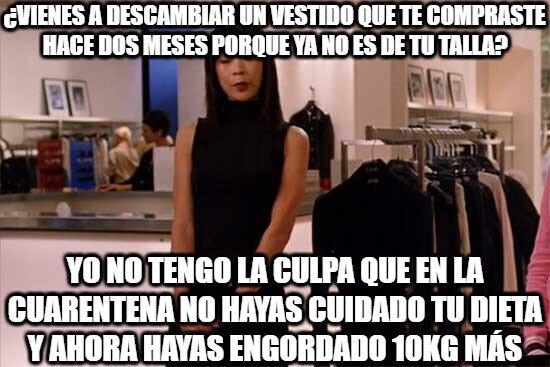 Dependienta_rancia - Cuando vuelvan a abrir las tiendas... la que se va a liar...