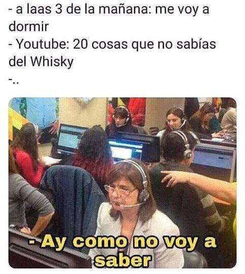 dormir,vídeos,whisky,youtube