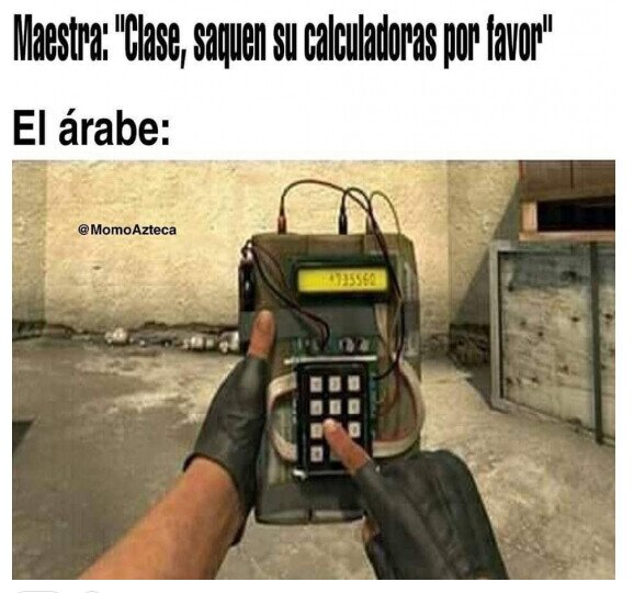 árabe,bomba,calculadora,clase