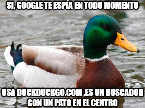 Pato_consejero - ¿Google te espía?