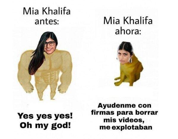 Meme_otros - Mia Khalifa quiere borrar sus vídeos de Internet
