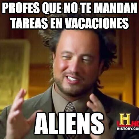 aliens,deberes,profes,tarea,vacaciones,verano