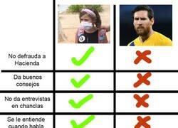 Enlace a Comparativa entre la niña de la mascarilla y Leo Messi. Yo lo tendría clarísimo.