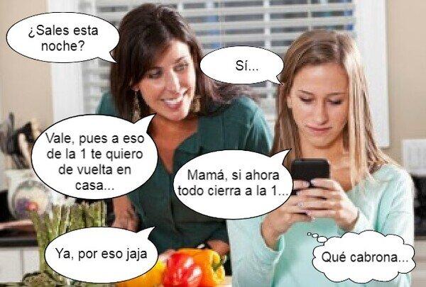 Meme_otros - Muchos padres se alegraran que sus hijos no trasnochen más tarde de la 1...