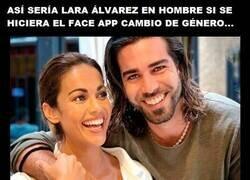 Enlace a Son dos gotas de agua Lara Álvarez y su hermano, ni el Face app lo haría mejor...