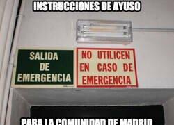 Enlace a Instrucciones de Ayuso para Madrid