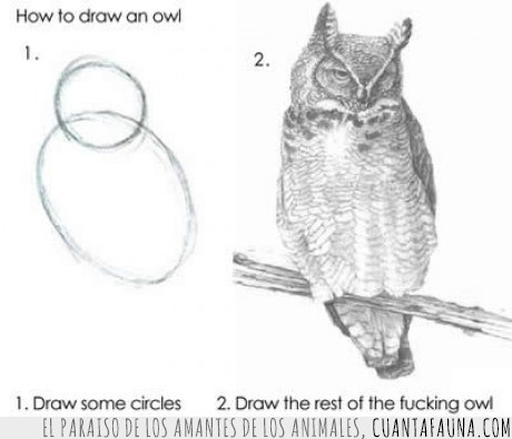 búho,dibujar