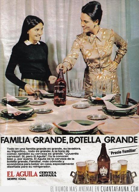 águila,cerveza,familia,publicidad