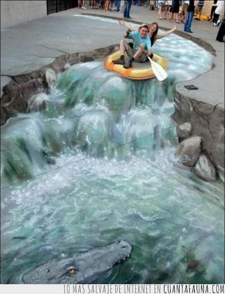 agua,arte,calle,cocodrilo