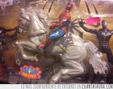 caballo,juguete,spiderman