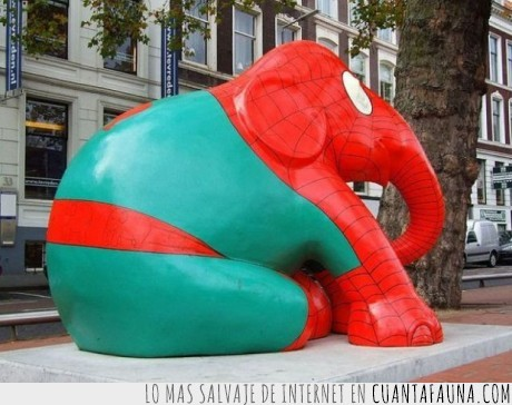 araña,balancear,Elefante,estatua,tela pintura