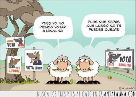 elecciones,lobo,oveja,quejarse,votar