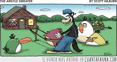 Angry Birds,Cuento,Lobo,Tres Cerditos